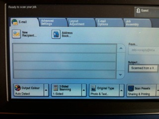 Scanning on a Xerox MFD