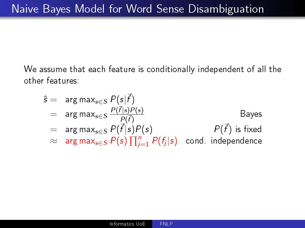 Fnlp 2017 Lab Session 5 Word Sense Disambiguation